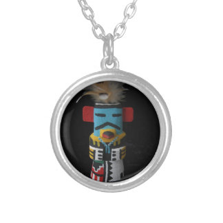 HOPI KACHINA EAGLE SILVER PLATED NECKLACE