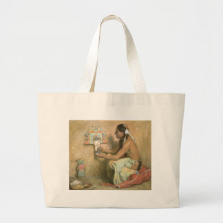 Hopi Katchina by Eanger Couse, American West Art Jumbo Tote Bag