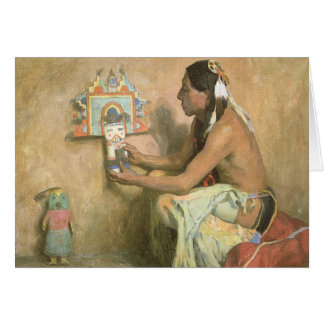 Hopi Katchina by Eanger Couse, American West Art Greeting Card