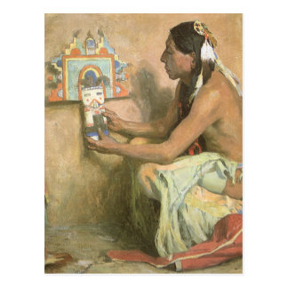 Hopi Katchina by Eanger Couse, American West Art Postcard