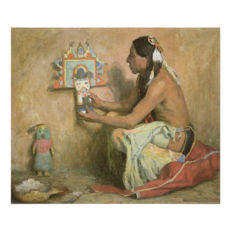 Hopi Katchina by Eanger Couse, American West Art Poster