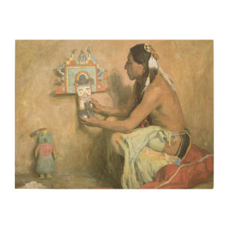 Hopi Katchina by Eanger Couse, American West Art Wood Canvases
