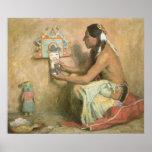 Hopi Katchina de Eanger Couse, arte del oeste Póster