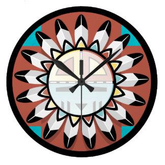 Hopi Katchina Mask/Shield clock design