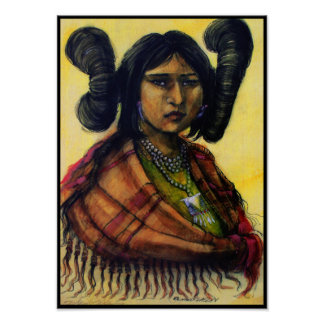 Hopi Maiden Canvas Print
