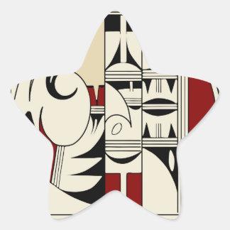 Hopi Pottery 01 Star Sticker