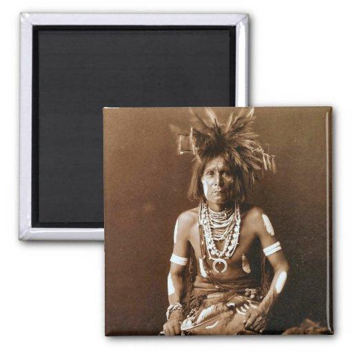 Hopi Snake Priest ca. 1900 2 Inch Square Magnet