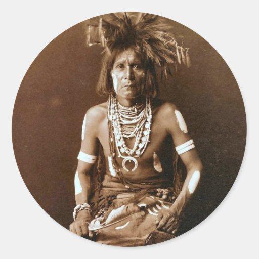 Hopi Snake Priest ca. 1900 Classic Round Sticker