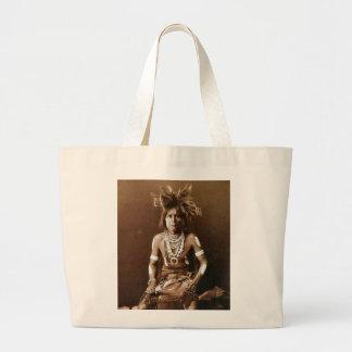 Hopi Snake Priest ca. 1900 Large Tote Bag