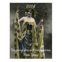 Hoping for a Prosperous New Year Postcard