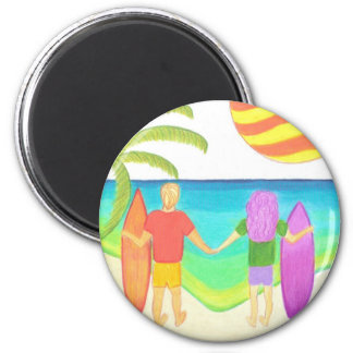 Hoping for Waves 2 Inch Round Magnet
