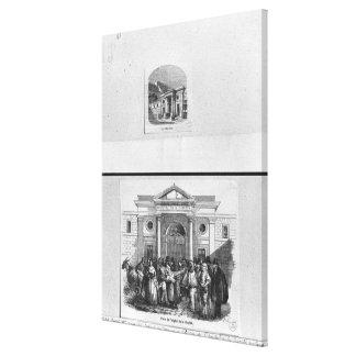 Hopital de la Charite Stretched Canvas Print