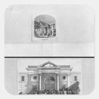 Hopital de la Charite Square Sticker