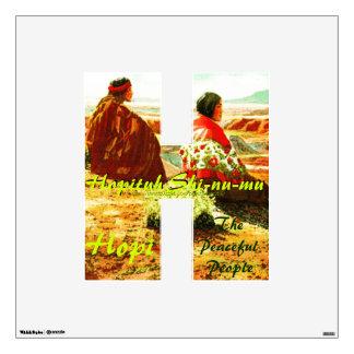 """ Hopituh Shi-nu-mu~The Peaceful People"" Wall Sticker"