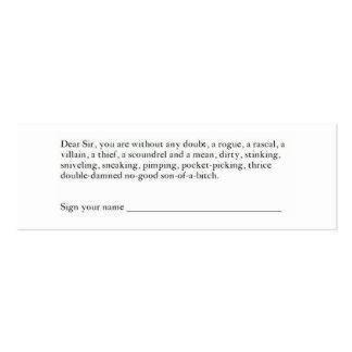Hopkin's Card Mini Business Card