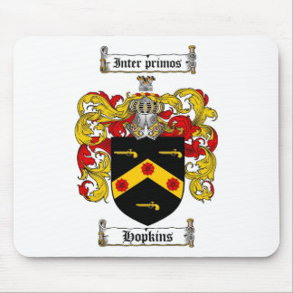 HOPKINS FAMILY CREST -  HOPKINS COAT OF ARMS MOUSE PAD