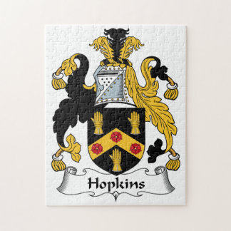 Hopkins Family Crest Jigsaw Puzzle