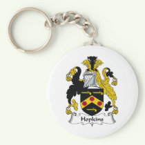 Hopkins Family Crest Keychain