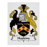 Hopkins Family Crest Posters