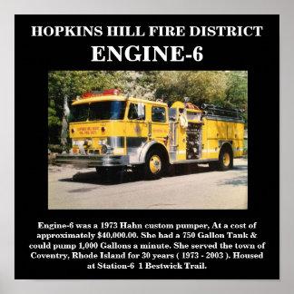 Hopkins Hill Engine-6 (1973 Hahn) Print