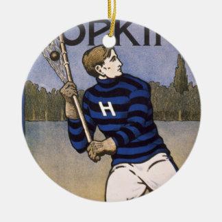 Hopkins Lacrosse 1902 - Bristow Adams Christmas Tree Ornament