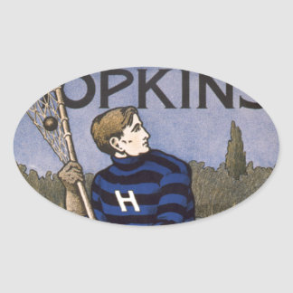 Hopkins Lacrosse 1902 - Bristow Adams Oval Sticker