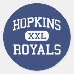 Hopkins - Royals - High School secundaria - Pegatinas Redondas