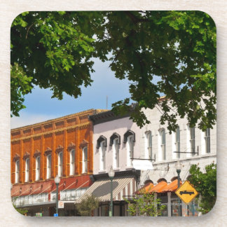 Hopkins Street facing courthouse square in Beverage Coaster