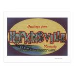 Hopkinsville, Kentucky - escenas grandes de la let Tarjetas Postales