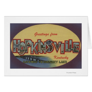 Hopkinsville, Kentucky - Large Letter Scenes Card