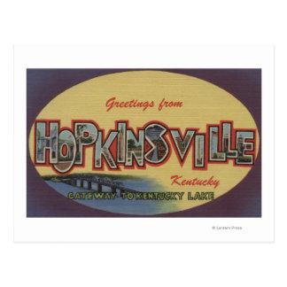 Hopkinsville, Kentucky - Large Letter Scenes Postcard
