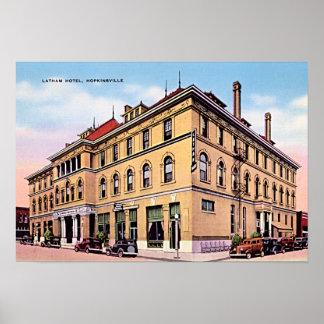 Hopkinsville Kentucky Latham Hotel Poster