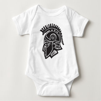 Hoplite Greek Helmet Baby Bodysuit