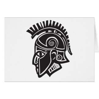 Hoplite Greek Helmet Greeting Card