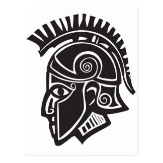 Hoplite Greek Helmet Postcard