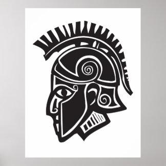 Hoplite Greek Helmet Poster