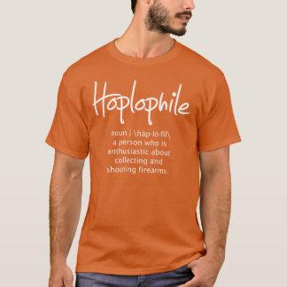 Hoplophile - escritura - camiseta oscura