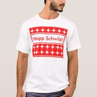 Hopp Schwiiz means Go Switzerland! Swiss Fan Flags T-Shirt