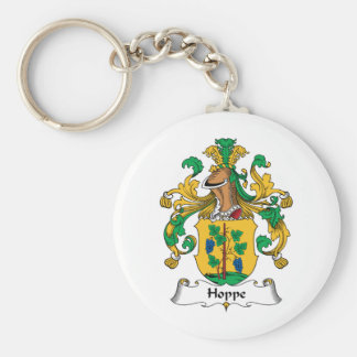 Hoppe Family Crest Basic Round Button Keychain