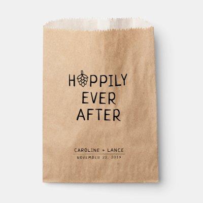 Hoppily Ever After Beer Co-Ed Wedding Shower Favor Bag