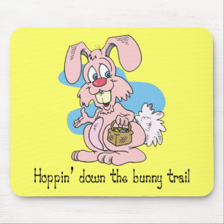 Hoppin abajo del rastro del conejito tapetes de ratones