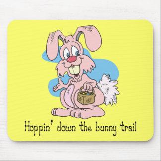 Hoppin abajo del rastro del conejito tapetes de ratón