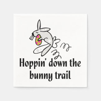 Hoppin' Down The Bunny Trail Standard Cocktail Napkin