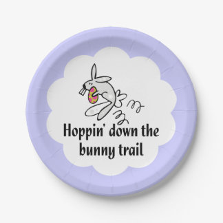Hoppin' Down The Bunny Trail Paper Plate