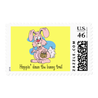 Hoppin' Down the Bunny Trail Postage Stamp