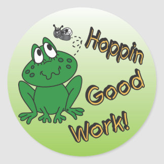 Hoppin Good Work Classic Round Sticker