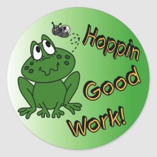 Hoppin Good Work Classic Round Sticker