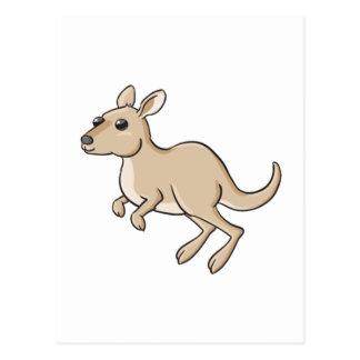 Hopping Cartoon Kangaroo Postcard