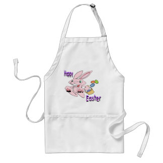 Hopping Easter Bunny Adult Apron