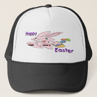 Hopping Easter Bunny Trucker Hat